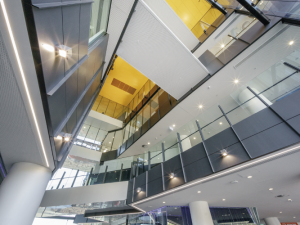 View of the AHMS foyer, looking up