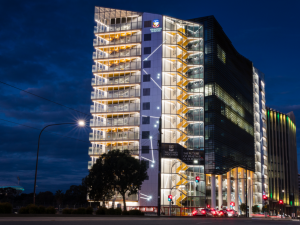 Adelaide Health and Medical Sciences building at night