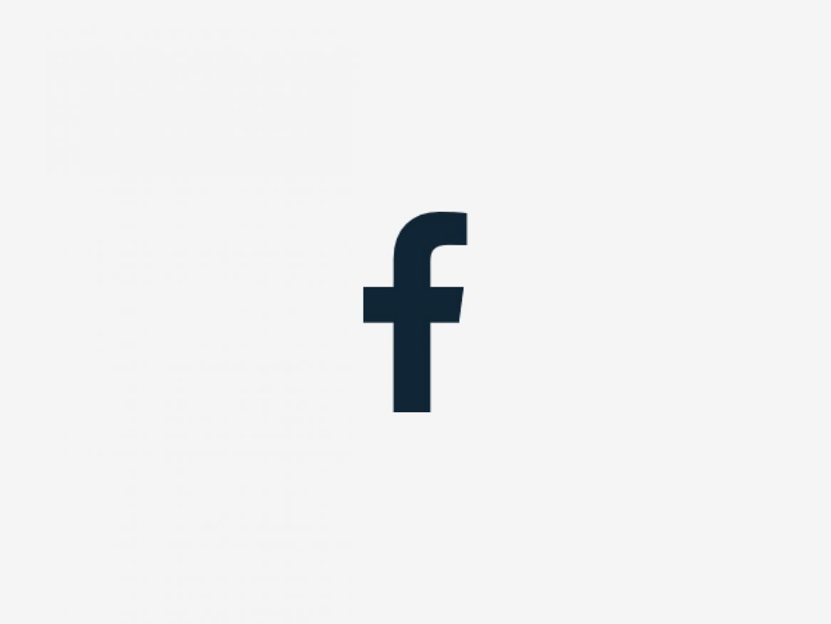 Facebook icon on grey background