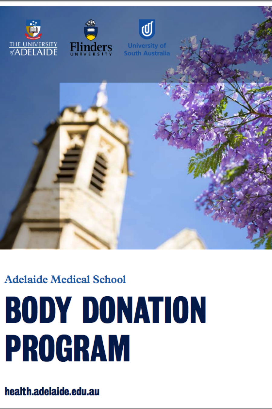 Front cover of the Body Donation Program brochure